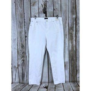 J Crew Slim Broken In Boyfriend White Jeans